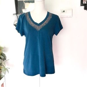 Kenneth Cole Short Sleeve Top Size Large